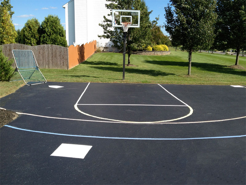 Driveway Basketball Court Painted Lines